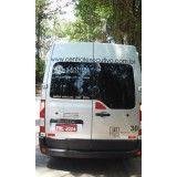 Valor dos serviços de locação de Van no Parque Pedroso