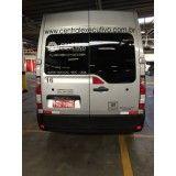Van para transporte de passageiros no Santo André