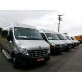 Vans com motoristas para locação no Jardim Esther